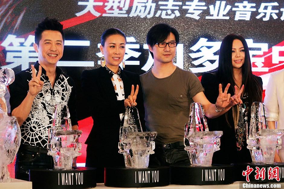 中国好声音》第二季导师集体亮相张惠妹加盟