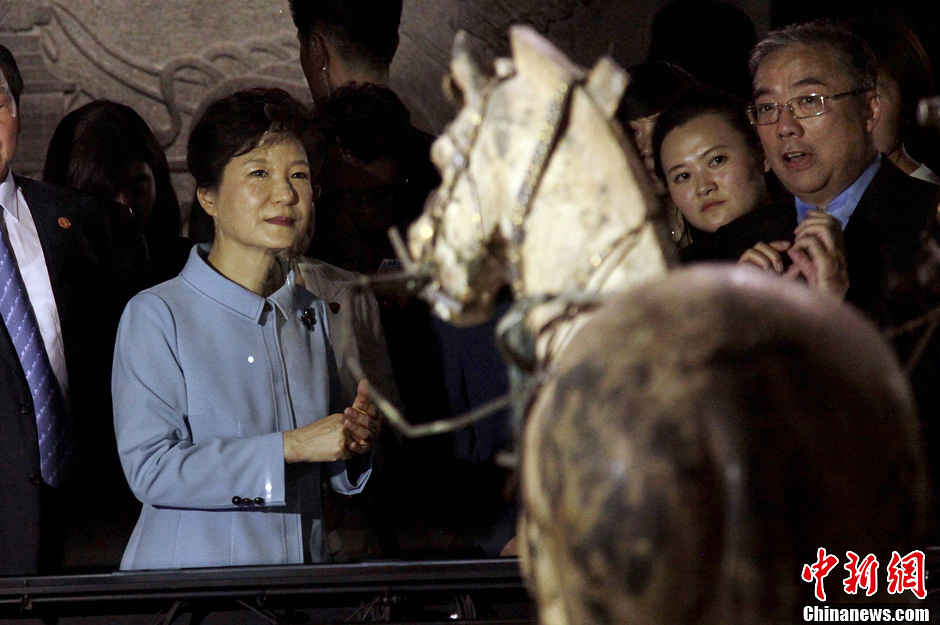 韩国总统朴槿惠访问西安