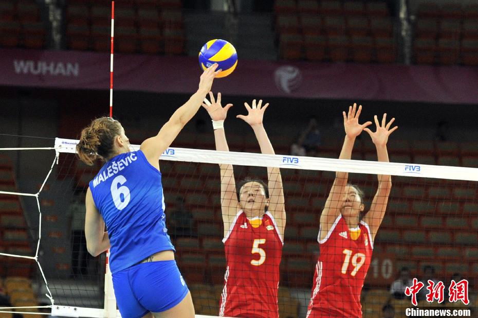 世界女排大奖赛武汉站中国女排夺冠
