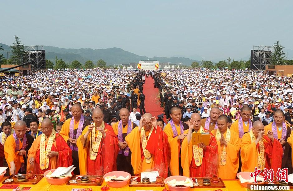 安徽99米地藏菩萨圣像开光大典 99位高僧主法