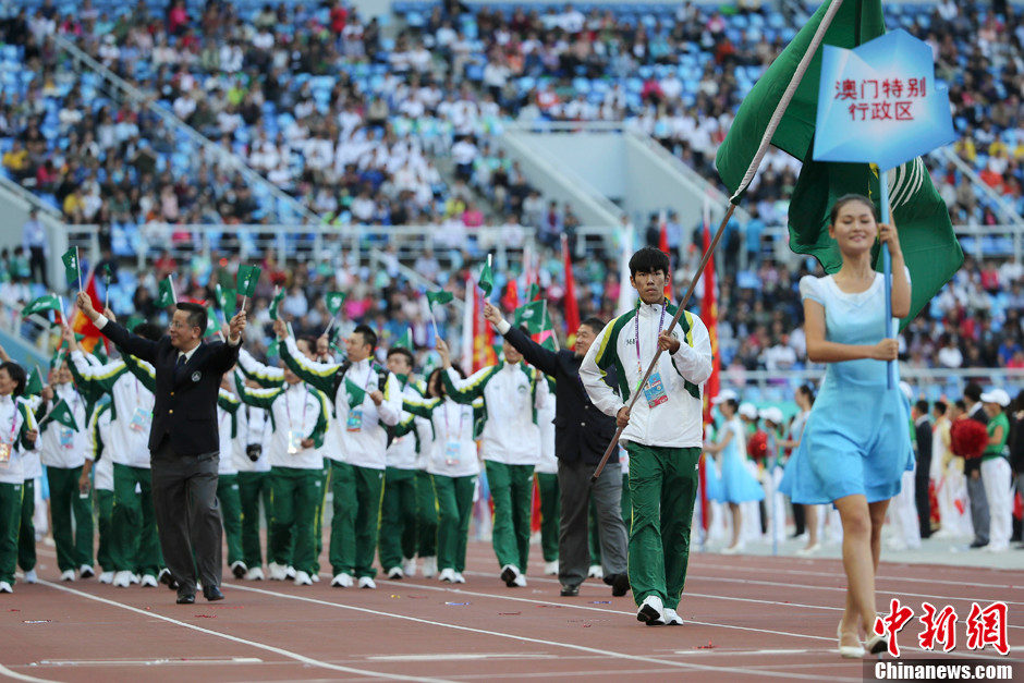 第十二届全运会开幕 澳门特别行政区代表团入场