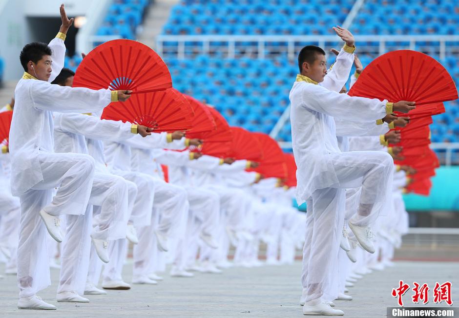 第十二届全运会开幕 上演太极武术表演