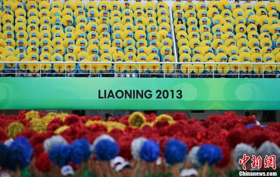 第十二届全运会开幕 现场异彩纷呈