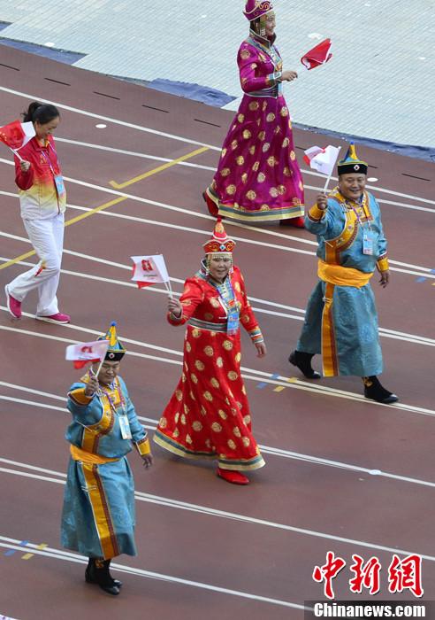 第十二届全运会开幕 少数民族运动员登场