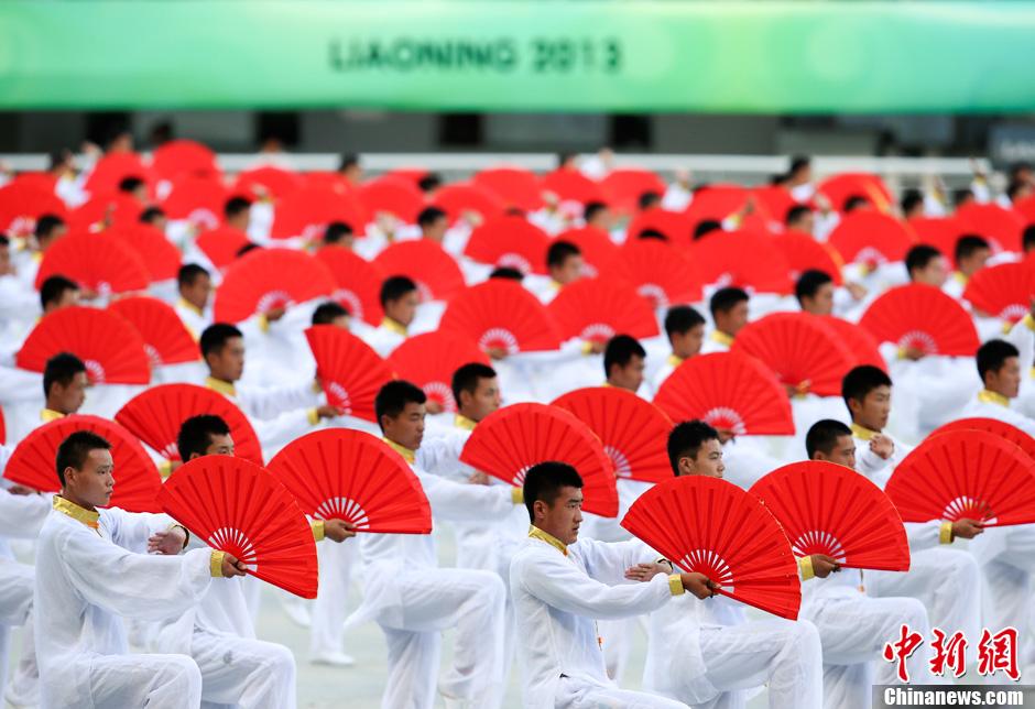 第十二届全运会开幕 太极表演精彩绝伦