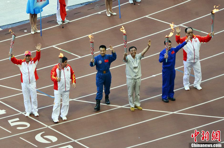第十二届全运会开幕式上的明星火炬手