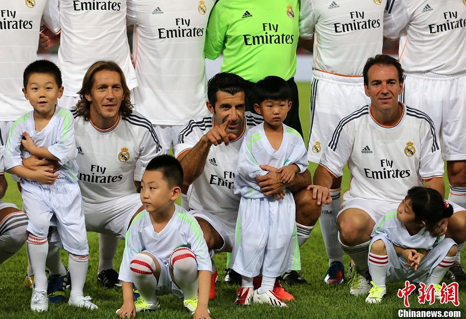 皇马元老队VS北京老男孩足球赛在北京举行