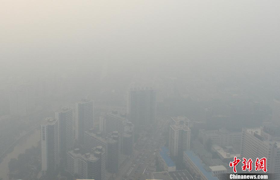 国庆黄金周新闻图片回顾——雾霾围城