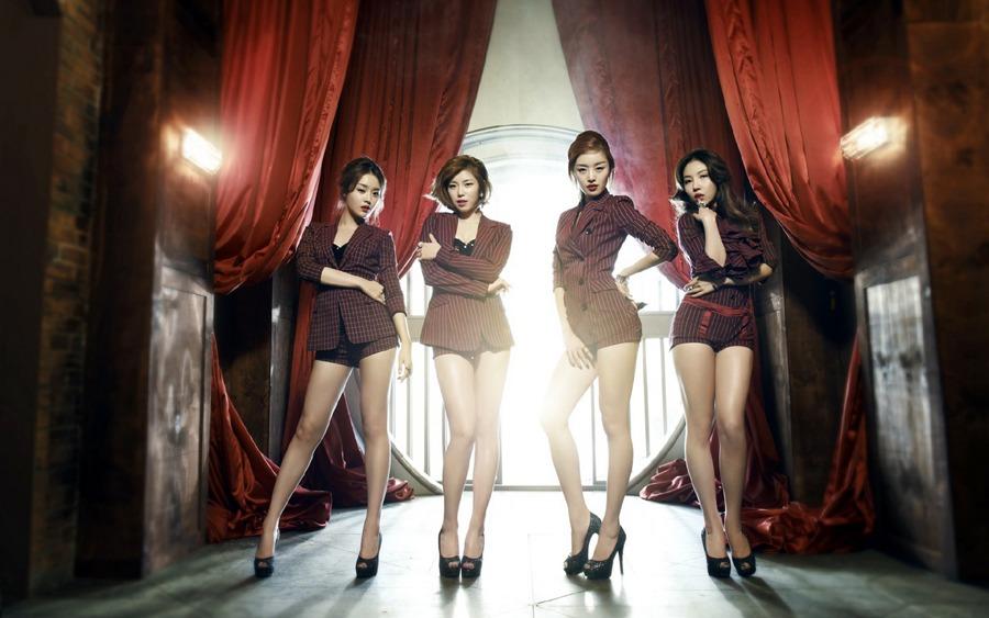 盘点韩国女子团体性感美腿秀 中新网