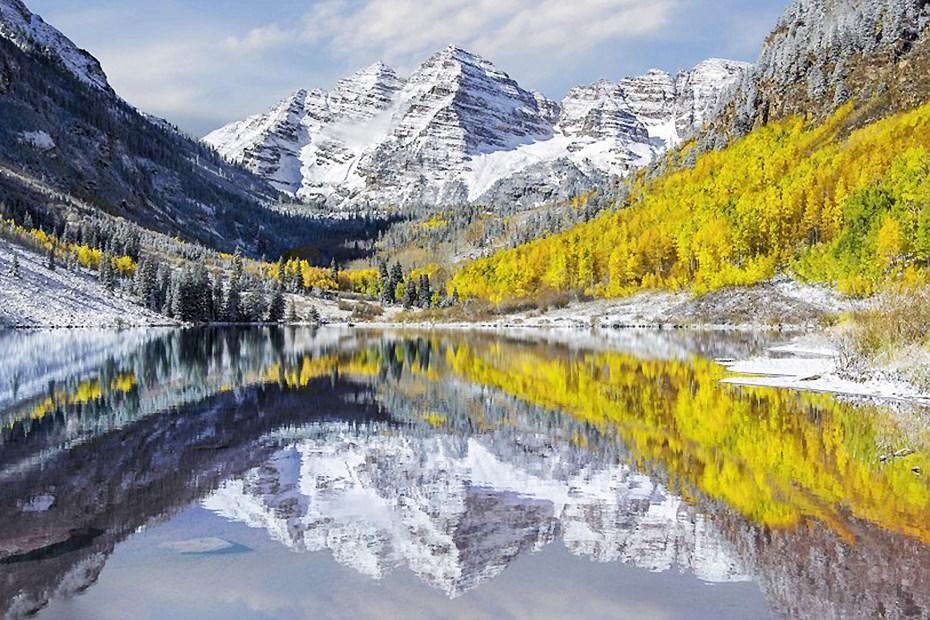 大自然中的瑰丽倒影 水天一色摄人心魄