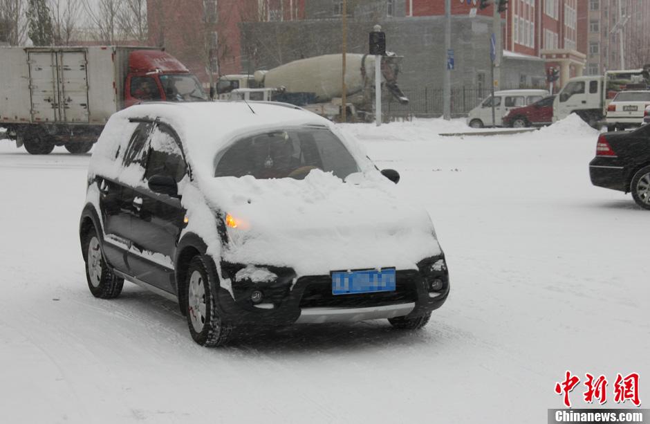 黑龙江迎入冬来最强降雪 局地大暴雪