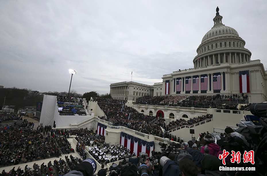 特朗普宣誓就职 正式成为美国第45任总统