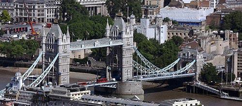 伦敦塔桥的资料照片