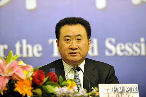 王健林 巩健/大连万达集团董事长、总裁王健林接受采访。中新网记者巩健摄