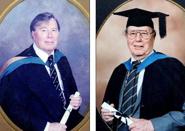 活到老学到老 英91岁老翁取得硕士学位计划读博