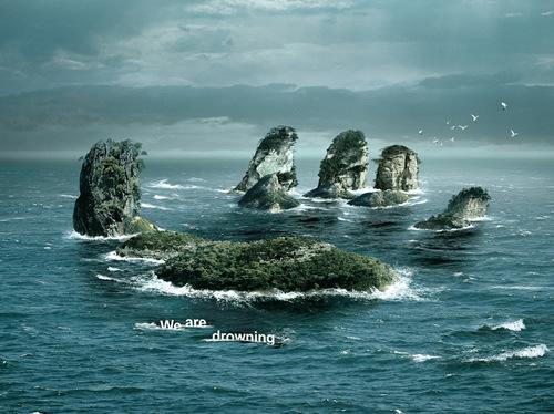 全球变暖创意公益广告图片
