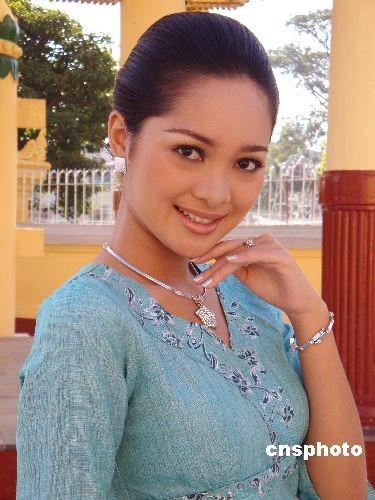 """图为广西卫视在缅甸仰光寻找到的""""金花""""茉优萨(Moe Yu San)。 - U86P4T8D1609495F116DT20090319155244"""