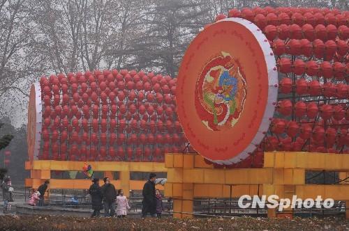 郑州雕塑公园过年