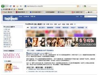 facebook现色情山寨版 台警对成人脸书束手无