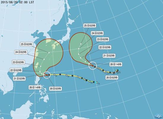 """台风""""天鹅""""准备北转台湾预计傍晚前发海警"""