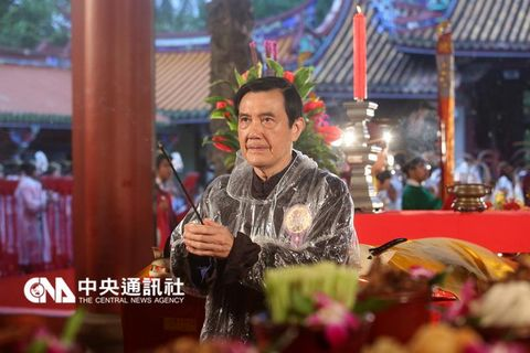 马英九参加台北祭孔大典台北市长柯文哲未到场