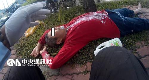 台湾男子喷洒农药中毒倒卧人行道(图)