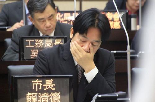 台南市长赖清德不进议会遭处分申诫(图)