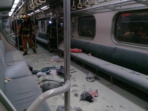 台铁松山车站列车爆炸已25人伤其中2人重伤(图)