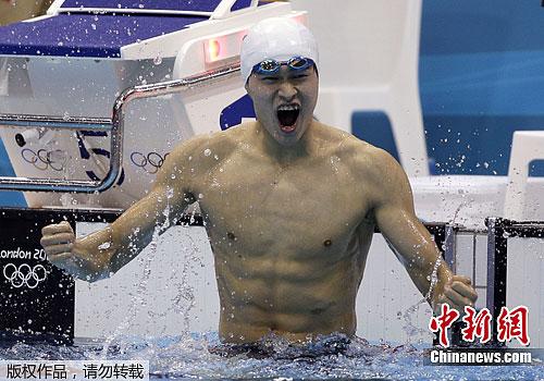 """孙杨成功""""复仇""""朴泰桓摘男子400米自由泳桂冠"""