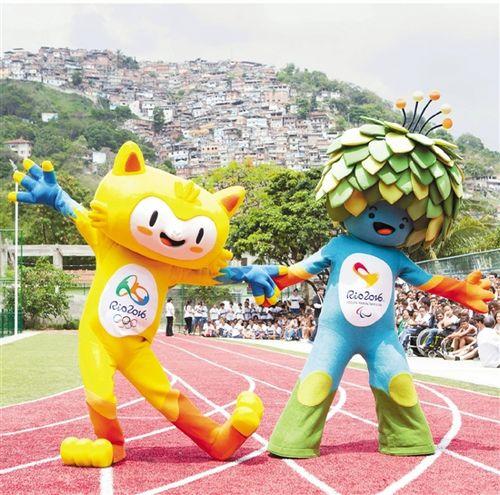 里约奥运残奥会吉祥物 维尼修斯和汤姆亮相(图)