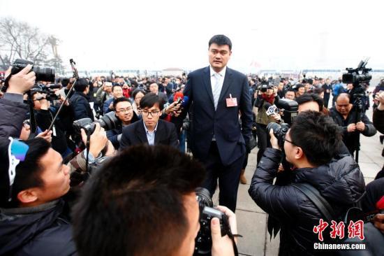 政协委员姚明:中国体育改革亟须管办分离