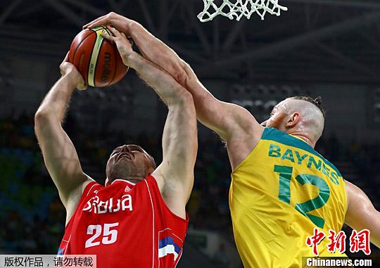 里约奥运:塞尔维亚男篮87:61胜澳大利亚进军决赛
