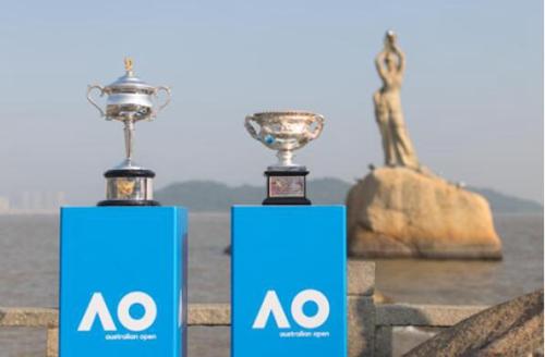 澳网冠军奖杯巡游珠海市民亲身感受澳网魅力