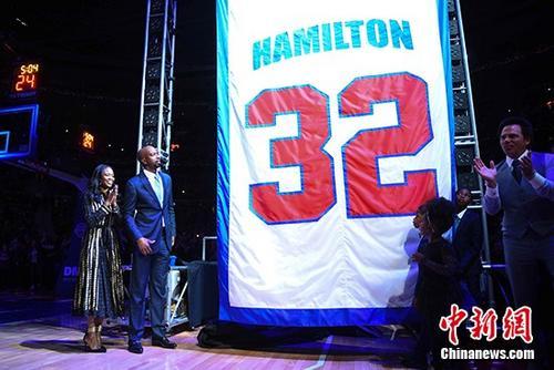 汉密尔顿球衣正式退役昔日底特律冠军五虎再聚首