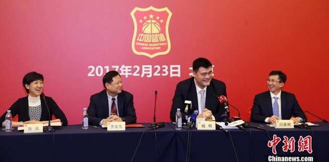 姚明正式当选中国篮球协会主席
