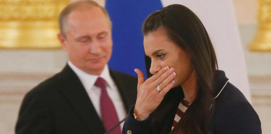 俄罗斯奥运代表队举行欢送会 普京出席伊娃掩面
