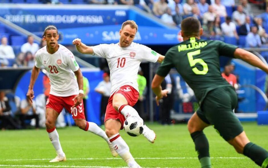 世界杯C组丹麦1-1战平澳大利亚