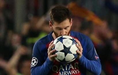 梅西解锁西甲400球 巴尔韦德:这数据不属于地球