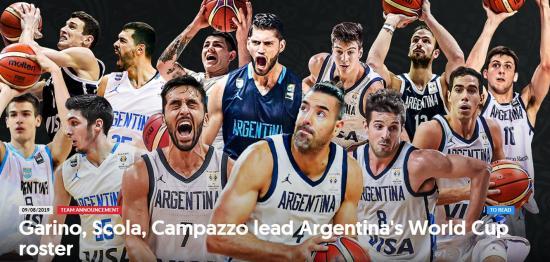 男篮世界杯B组巡礼:阿根廷黄金一代上演谢幕之旅