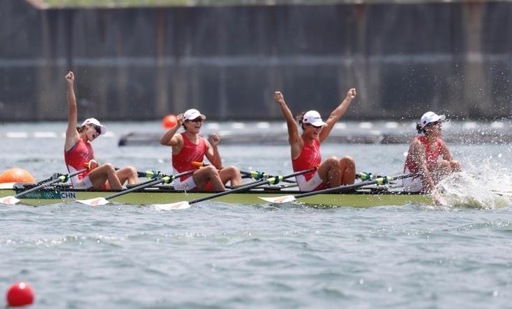 中国女子四人双桨摘得第十金 刷新世界最好成绩