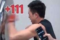 拳王的拳速能有多快 10秒打出111拳