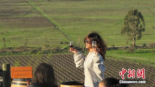 当红歌星蕾哈娜到访张裕智利魔狮酒庄