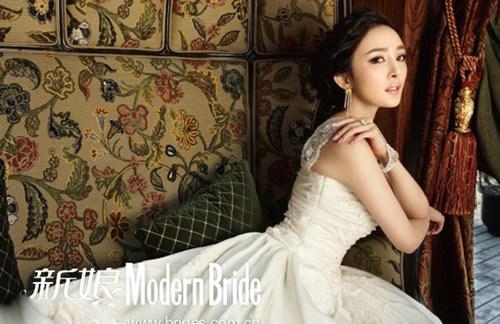 杨幂欧式复古婚纱写真 气质动人显典雅高贵(5)