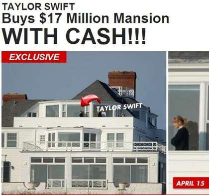 泰勒带父母买千万豪宅 直接付现财力雄厚