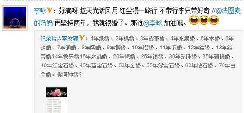 哈文喊话老公李咏:再坚持两年,我就银婚了(图)
