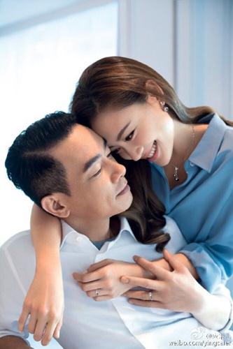 陈小春应采儿结婚5年后拍婚纱照2人姿势搞怪(图)
