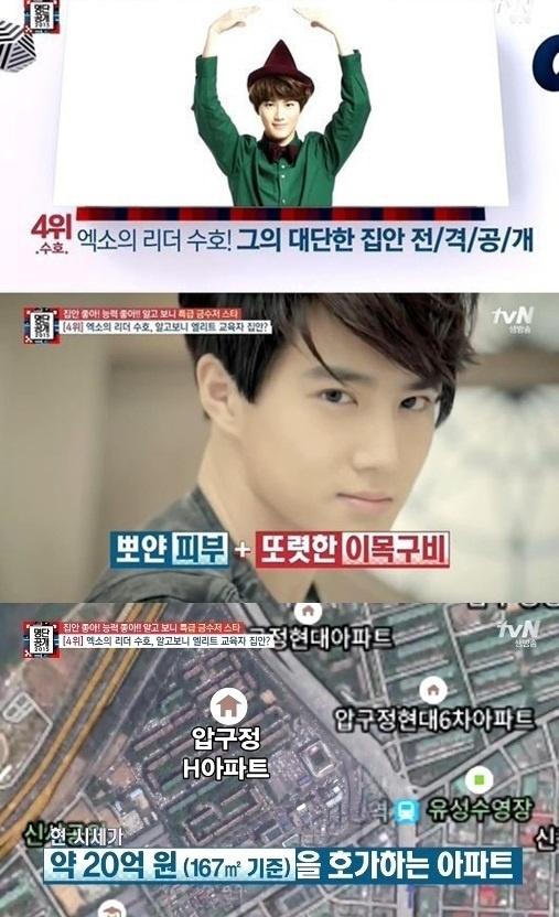 EXO成员SUHO被曝家境好豪宅与崔始源为邻(图)