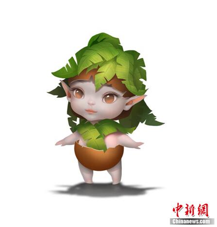 """贾乃亮女儿甜馨献声游戏变身""""椰子娃娃"""""""