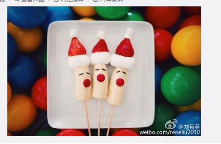 [明星爆料]刘若英老公为妻子做创意圣诞礼物 造型可爱(图)
