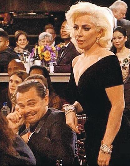 [热点新闻]传Lady Gaga未婚夫金球派对上要莱昂纳多道歉(图)
